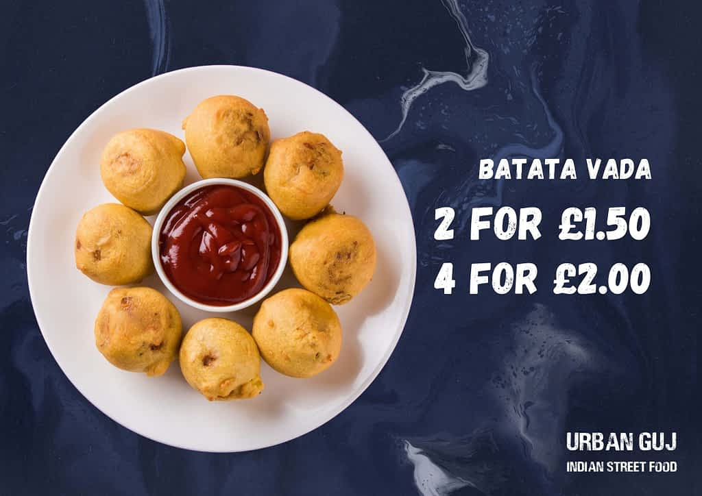 Indian Snack Batata Vada offer Urban Guj